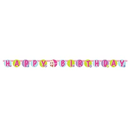 75ft pink barbie happy birthday letter banner party decoration