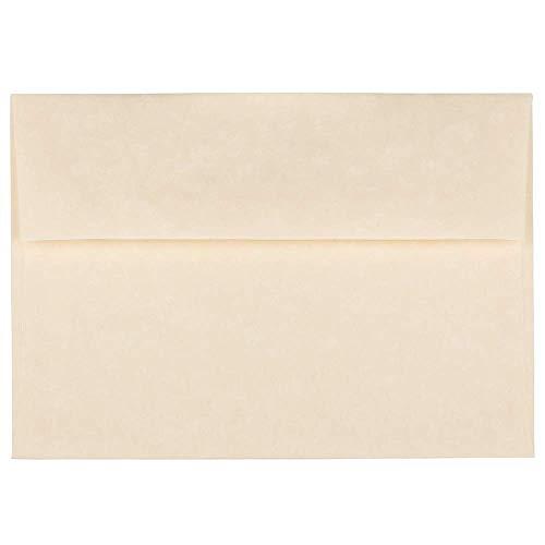 JAM PAPER A7 Parchment Invitation Envelopes - 5 1/4 x 7 1/4 - Natural Recycled - (Parchment Envelope)