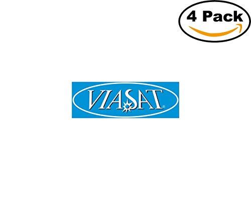 Viasat 4 Stickers 4X4 Inches Car Bumper Window Sticker Decal
