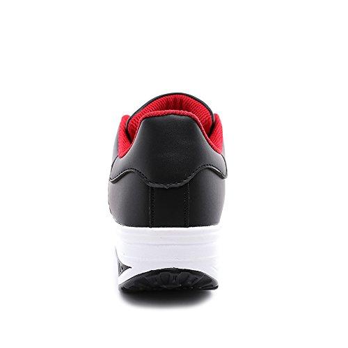 TIOSEBON 姿勢矯正シューズ ダイエット 厚底靴 レディース スニーカー 船型底 ウォーキングシューズ スポーツシューズ 軽量 美脚 カジュアル