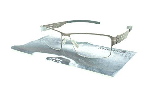 ic! berlin Eyeglasses Jurgen H. Rectangular / Rx Lenses (Teak Black, Clear Rx) by IC BERLIN
