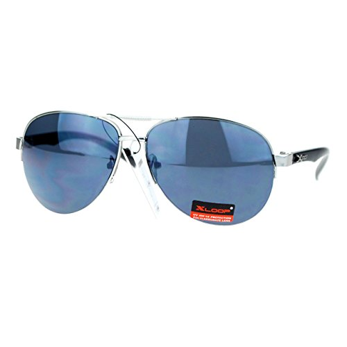 Xloop Sports Aviator Sunglasses Unisex Half Rim Aviators UV400 Protection - Sunglasses Xloop Aviator