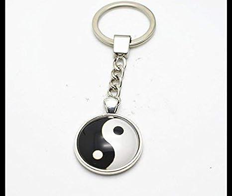 Llavero con llavero, diseño de Yin Yang, para mujer o hombre ...