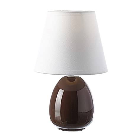dcasa - Lámpara para mesita de noche moderna marrón de cerámica para dormitorio Bretaña