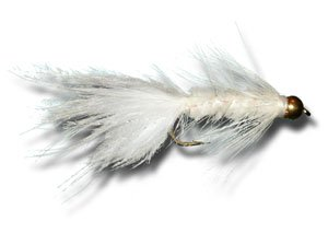 BH Woolly Bugger - White Fly Fishing Fly - Size 10 - 12 Pack