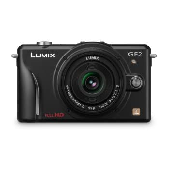 Panasonic Lumix DMC-GF2 12 MP Micro Four-Thirds Mirrorless Digital Camera with 3.0-Inch Touch-Screen LCD and 14mm f/2.5 G Aspherical Lens (Black)