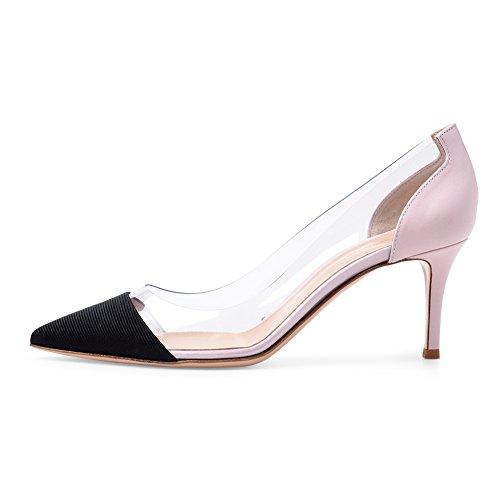 Mariage PVC Sexy Grande Taille 080 Pink Fête TLJ Talon Plateforme 44 De Coutures Mode Haut Transgenre Club KJJDE Femme Soirée qwEzaa