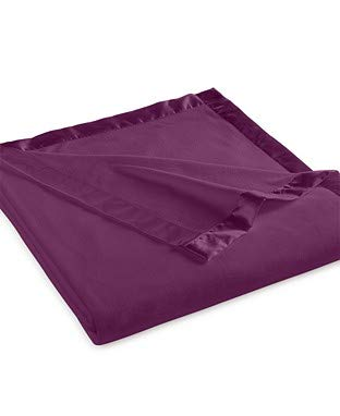 Martha Stewart Easy Care Soft Fleece Blanket (Queen, Purple Passion)