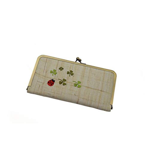 Carte coléoptère Embrayage Dames 05 Sac Double 04 Ramie Color Long Broderie Paquet Couche d'argent Tsutou YwqvFdY