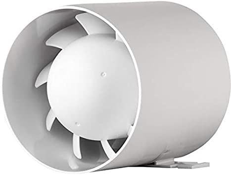 MKK - Ventilador de tubo (silencioso, 100 mm de diámetro, 10 cm, 15 W, 105 m³)