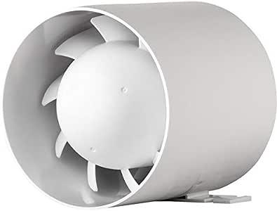 MKK - Ventilador de tubo (silencioso, 100 mm de diámetro, 10 cm ...