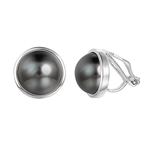 Pearl Vintage Pierced Earrings - Yoursfs Vintage Clip on Faux Pearl Earrings Round Non Pierced Earrings Fashion Women Earrings