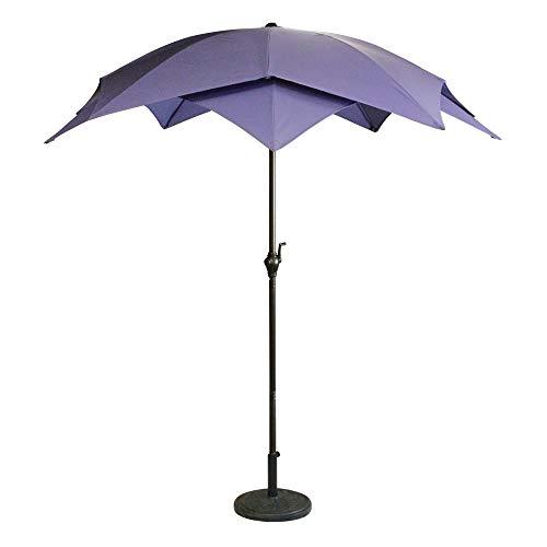 8.2 Outdoor Patio Powder-Coated Steel Lotus Umbrella – Purple