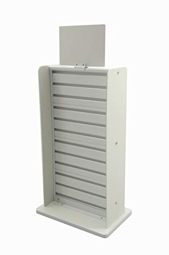 e Slatwall Display Countertop Rack POP POS Retail Stand 11561-WHITE ()