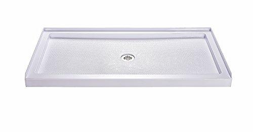 (DreamLine SlimLine 36 in. D x 60 in. W x 2 3/4 in. H Center Drain Single Threshold Shower Base in White)