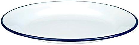 Ibili 901122 Assiette Plate Acier Blanc 22 cm