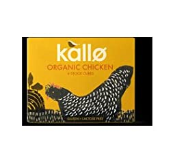 Kallo Organic Chicken Stock Cubes 66G (Pack Of 2)