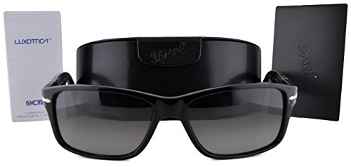 Persol PO3154S Sunglasses Black w/Gray Gradient Lens 104171 PO3154 For - Sarah Biel