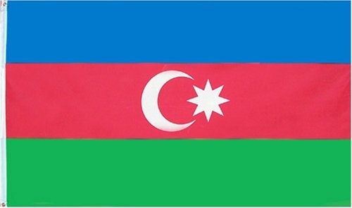 Azerbaijan Flag 3ftx5ft Polyester