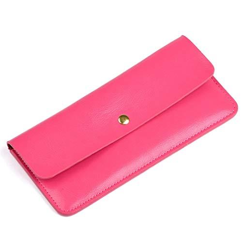 5bfed3e2dc Pink Lungo Donna Pink Con color Donna Poju Portafoglio Borsa Fibbia Busta Da  Portachiavi Cerniera SWvCH7