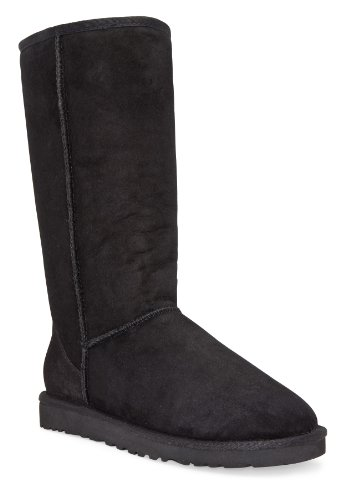 Ugg Women's Classic Tall Boot, Black, 7 M US - Uggs Boots Women Size 7