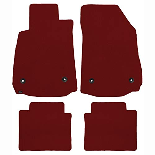 Brightt (MAT-VHQ-665) 4 Pc Car Floor Mat Set - Red Classic Carpet - compatible for 1957-1961 Plymouth Fury (1957 1958 1959 1960 1961 | 57 58 59 60 61)