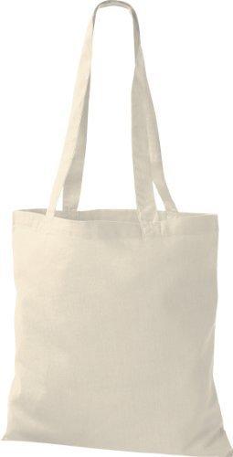 ShirtInStyle Premium Bolsa de tela Bolsa de algodón Bolsa Comprador Bolso de bandolera de muchos colores Natural