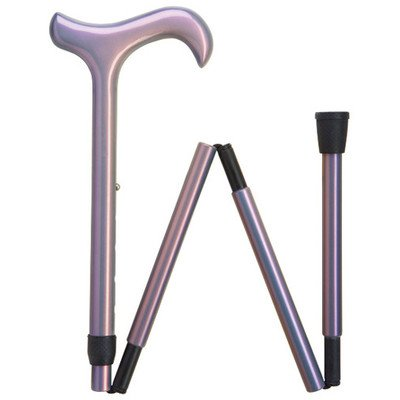 Women's Ultra-Light Weight and Durable Carbon Fiber Folding Cane Color: Lavender by HARVY