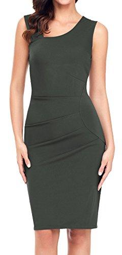 Aixy Women 1950s Vintage Retro Slim Style Sleeveless Business
