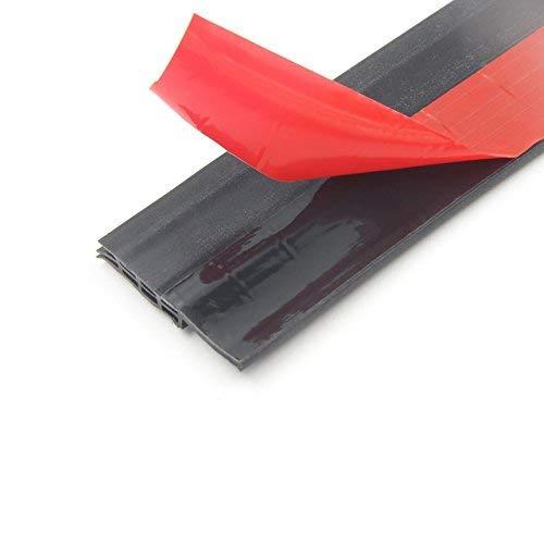 Rbaysale Door Draft Stopper, Self Adhesive Under Door Sweep Blocker Weather Stripping Door Bottom Seal Strip (Black, 2'' Width X 39'' Length)