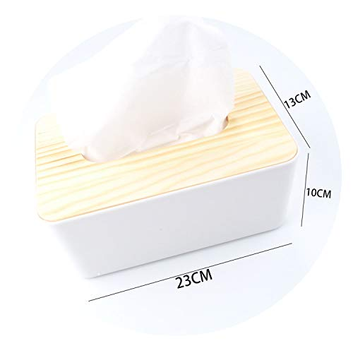 Wooden Plastic Tissue Box Home Kitchen Tissue Paper Organizer White Napkin Container Nordic Brief Napkin Box Napkin Dispenser,with A Bowl ()