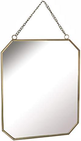 GreyZook Specchio esagonale in metallo con catena