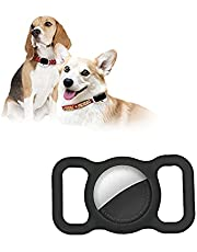 Pet Silicone Protective Case for Apple Airtag GPS Finder Dog Cat Collar Loop, Pet Loop Holder for Air_tag, for Apple Locator Tracker Anti-Lost Device (Black)