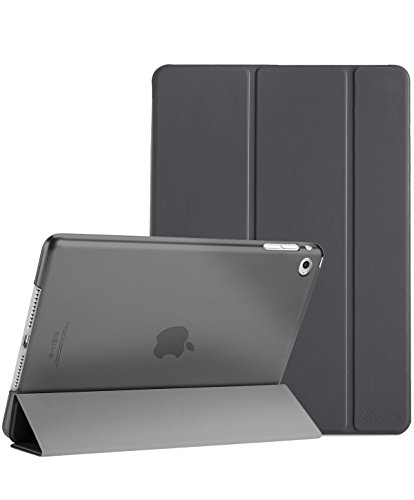 ProCase iPad Mini 4 Case - Ultra Slim Lightweight Stand Case with Translucent Frosted Back Smart Cover for 2015 Apple iPad Mini 4 (4th Generation iPad Mini, mini4) –Grey