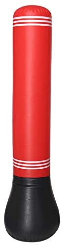 Inflatable Punching Tumbler Bag 160x56cm Fitness Sand Bag Beginner Boxing Training Air Bag for Children and Ad