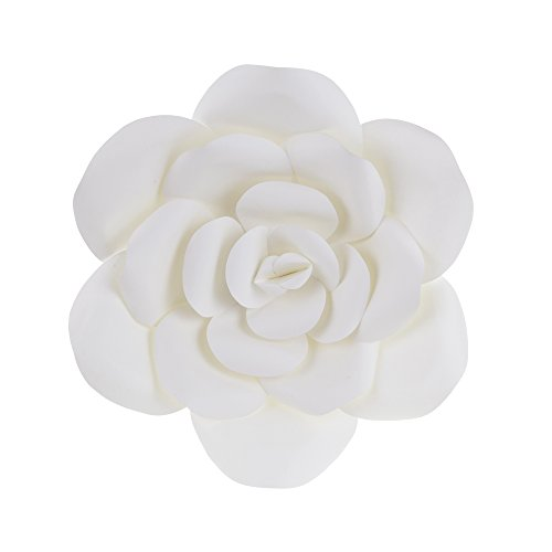 "Mega Crafts 12"" Handmade Paper Flower in White 
