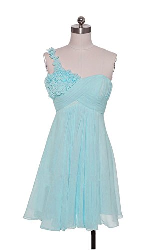 ALfany Flower One-Shoulder Prom Dress Ruffles Bridesmaids Gowns ALF065LB-US10