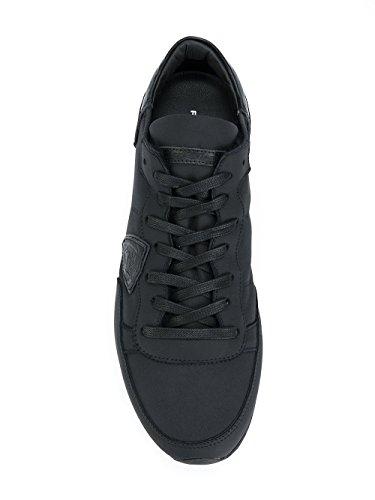 Philippe Model Mannen Trluam15 Zwart Lederen Sneakers