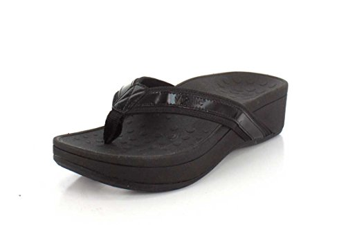 Hightide Womens Leather Vionic Sandals Pacific Black 380 FAEEqwT