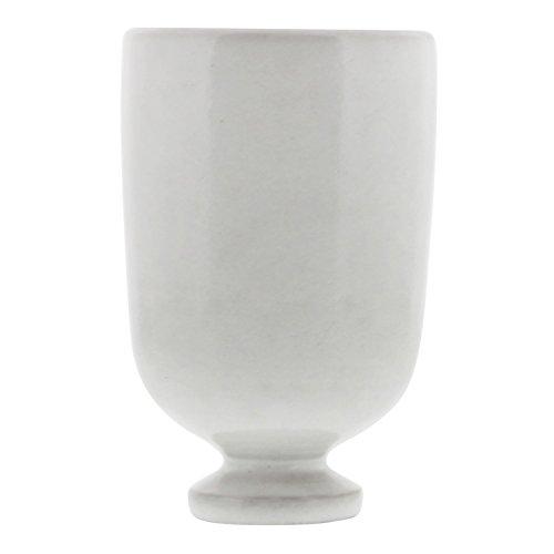 Classic Retro Ceramic Chalice Vase | Centerpiece Bowl White