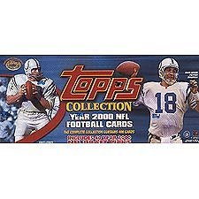 2000 Topps Football Factory Sealed 400 Card Set. Loaded with Rookies and Stars Including Chad Pennington, Brian Urlacher, Shaun Alexander, Favre, Emmitt, Warner, Unitas, Marino, Moss, Manning, Rice, Aikman and Many More. 2000 Topps Collection