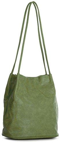 Bolso piel green al lime mujer sintética Big de hombro Handbag Shop para YRPfnZE