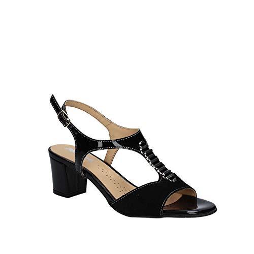 K95337 Melluso Nero Sandalo Tacco Donna TgwBzX