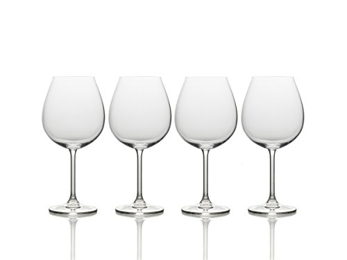 Mikasa Crystal Stemware (Mikasa Julie Red Wine Glass, 25-Ounce, Set of 4)