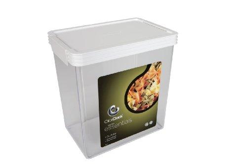 Click Clack Basics Storage Containers, 4.5 Quart Airtight Container, White Lid ()