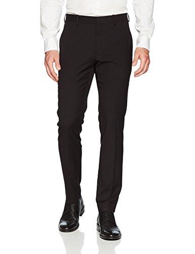 - Perry Ellis Men's Very Very Slim Solid Dress Pant, Black, 28W X 30L
