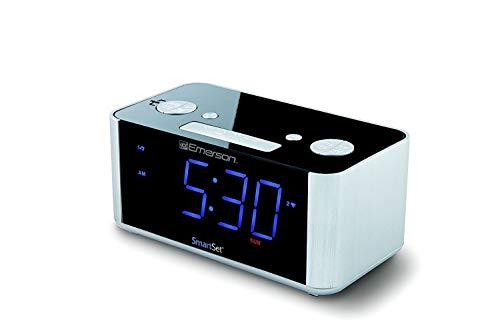 Emerson CKS1708 SmartSet Alarm Clock Radio (REFURBISHED) & RCA RCR8622 (New) w4 Multi Color Wraps RCA RCR8622 Coms w/USB Charging Port for iPhone/Android (Emerson CKS1708 ()