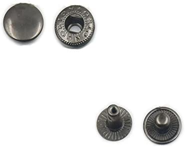 Gold,1//2 12mm 100 Pcs Rapid Rivet Button Snap Leather Craft Fasteners Hardware
