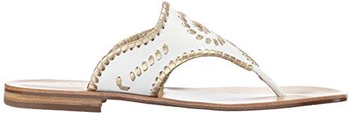 Jack Rogers Blair de la mujer vestido sandalia White-Gold