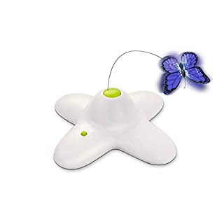 All for Paws Interactive Flutter Bug Cat Butterfly Toy with Two Replacement Flashing Butterflies Toy